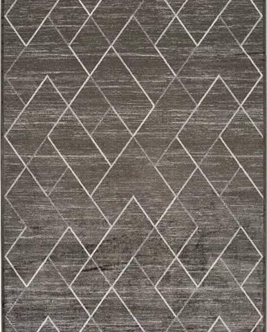Šedý koberec z viskózy Universal Belga, 70 x 110 cm