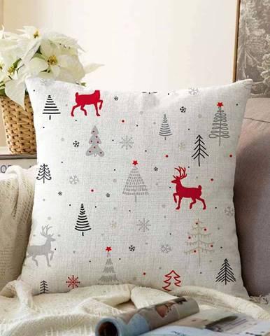 Vánoční žinylkový povlak na polštář Minimalist Cushion Covers Nordic Christmas,55x55cm