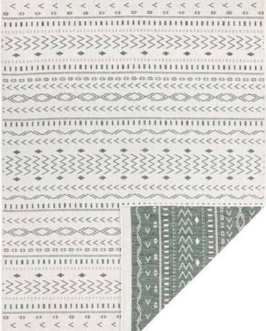 Zeleno-krémový venkovní koberec Bougari Kuba, 230 x 160 cm