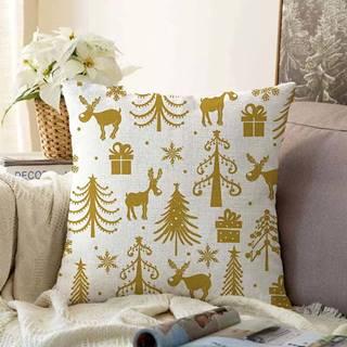 Vánoční žinylkový povlak na polštář Minimalist Cushion Covers Christmas,55x55cm