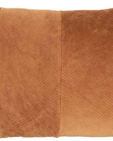 Pískově hnědý dekorativní polštář PT LIVING Ribbed,60x 40cm