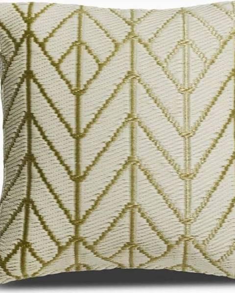 Fab Hab Béžovo-zlatý polštář z recyklovaného plastu Fab Hab Sydney, 51 x 51 cm