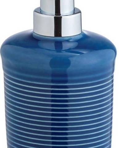 Modrý keramický dávkovač na mýdlo Wenko Sada