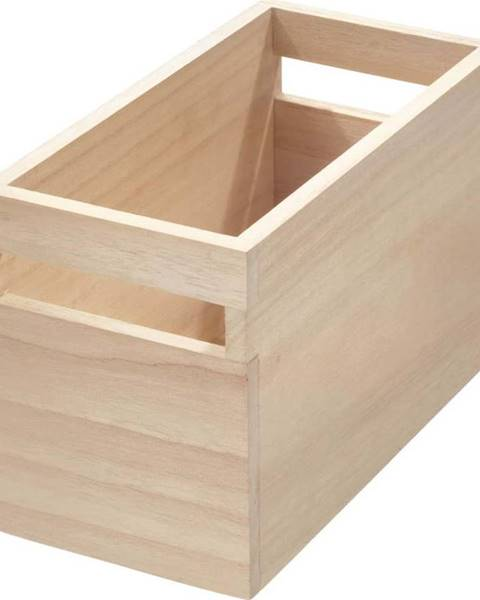 iDesign Úložný box ze dřeva paulownia iDesign Eco Wood,12,7x25,4cm