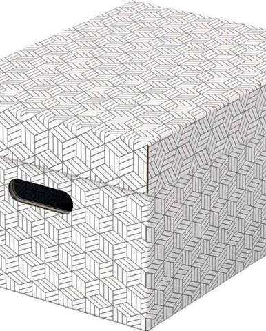 Sada 3 bílých úložných boxů Esselte Home,26,5x36,5cm