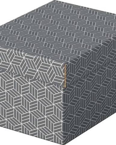 Sada 3 šedých úložných boxů Esselte Home,20x25,5cm