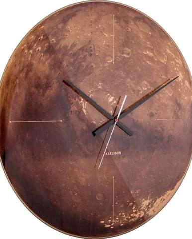 Měděné hodiny Karlsson Mars