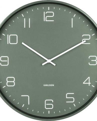 Zelené nástěnné hodiny Karlsson Lofty,ø40cm