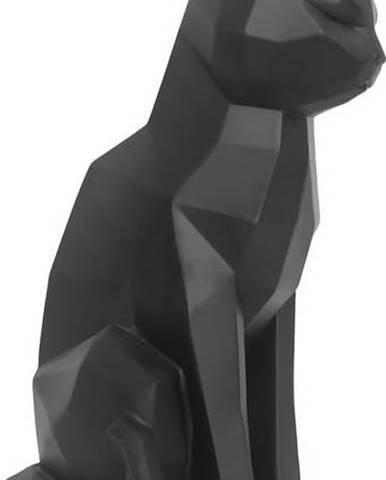 Matně černá soška PT LIVING Origami Cat,výška29,5cm