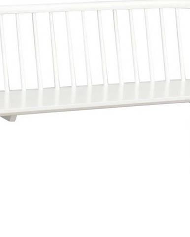 Bílá dřevěná lavice Rowico Carmen