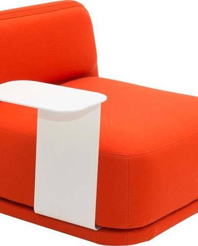 Oranžové křeslo s bílým kovovým stolkem Softline Standby Low + Side Table