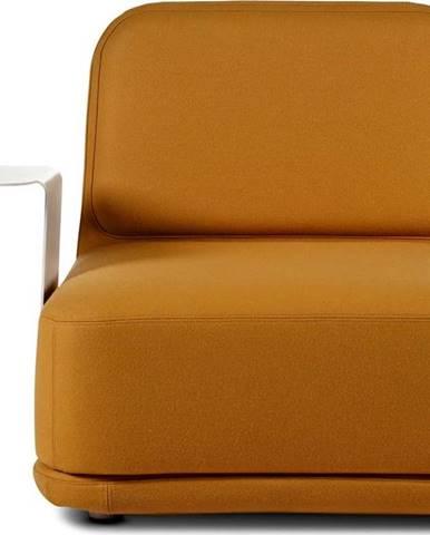 Oranžové křeslo s bílým kovovým stolkem Softline Standby Medium + Side Table