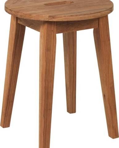Přírodní nízká dubová stolička Rowico Frigg