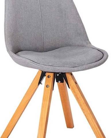 Sada 2 světle šedých jídelních židlí loomi.design Dima