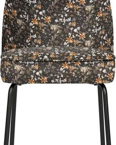 Černá jídelní židle s květinovým vzorem BePureHome Vogue Flower