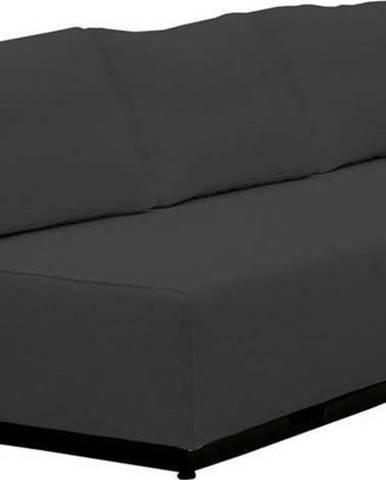 Černá rozkládací pohovka Softline Nevada, 200 cm