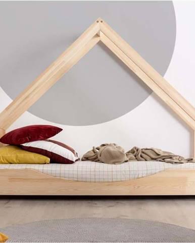 Domečková dětská postel z borovicového dřeva Adeko Loca Elin,100x200cm