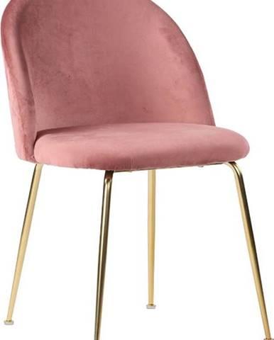 Sada 2 růžových jídelních židlí House Nordic Geneve