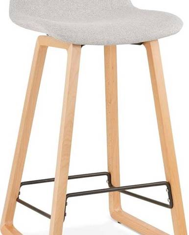 Světle šedá barová stolička Kokoon Trapu Mini, výškasedu72cm