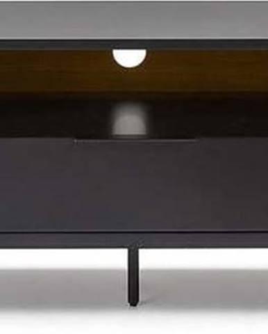 Černo-hnědý TV stolek La Forma SAVOI, 170 x 50 cm