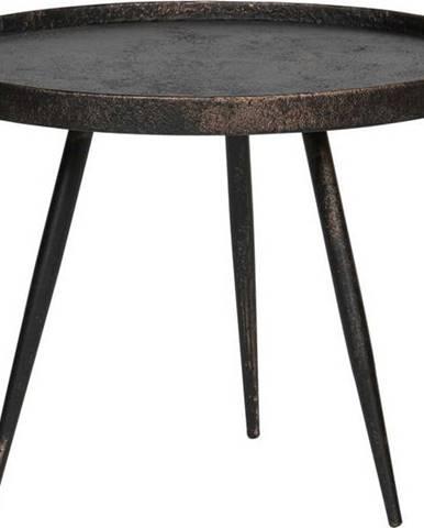Černý odkládací stolek BePureHome Bounds, ø 58 cm