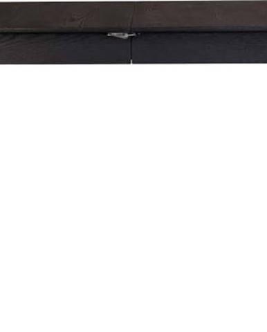 Černý rozkládací jídelní stůl Zuiver Glimps, 120x80cm