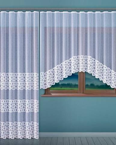 Kusová záclona CEZARIA G255/bílá/150x250