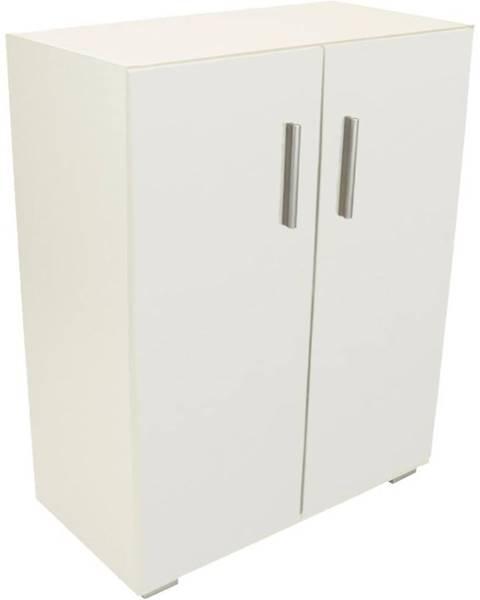 BAUMAX Regál Zavřený Office Rd60-80 Bílý Mat