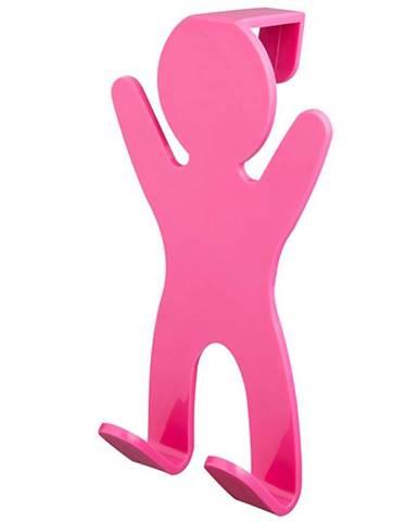 Věšák dvojitý 06652 růžový Bisk
