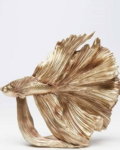 Dekorativní socha ve zlaté barvě Kare Design Betta Fish