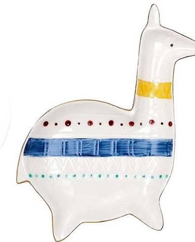 Porcelánový tácek na šperky Ladelle Nomad Llama,délka20,2cm