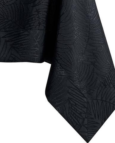 Černý ubrus AmeliaHome Gaia Black, 140 x 220 cm