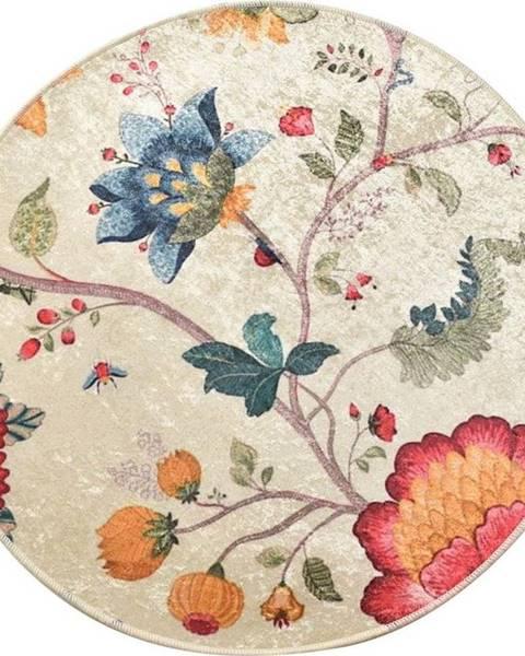 Chilai Květinová koupelnová předložka Chilai Circle Vintage, ø 100 cm