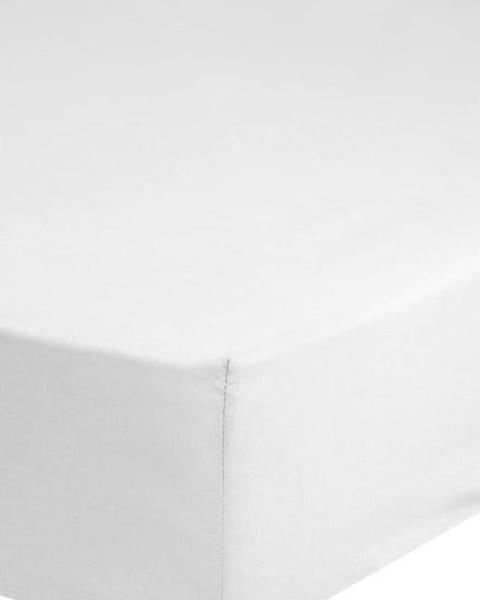 GOOD MORNING Bílé bavlněné elastické prostěradlo Good Morning,140x200cm