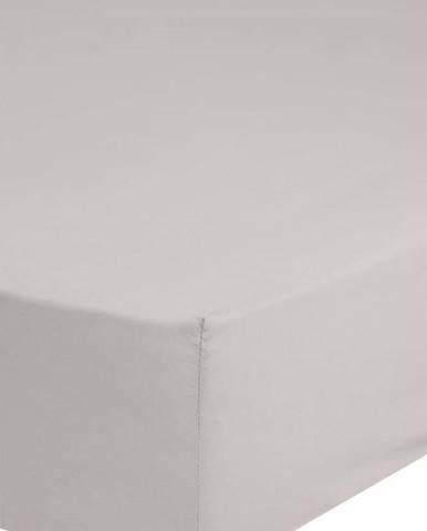 Béžové bavlněné elastické prostěradlo Good Morning,140x200cm