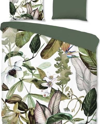Flanelové povlečení na dvoulůžko Good Morning Flora, 220 x 240 cm