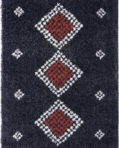 Černý koberec Mint Rugs Cassia, 160 x 230 cm