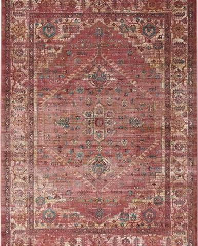 Červený koberec z viskózy Universal Vintage Retro, 160x230cm