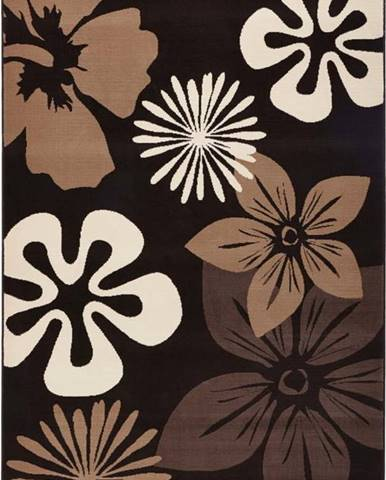 Koberec Hanse Home Gloria Flower Brownie, 160 x 230 cm