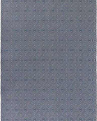 Modrý bavlněný koberec Flair Rugs Pappel, 114 x 170 cm