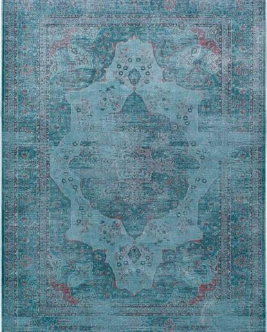 Modrý koberec z viskózy Universal Lara Aqua, 60x110cm
