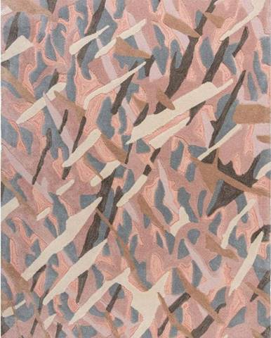 Šedo-růžový koberec Flair Rugs Bark, 120 x 170 cm