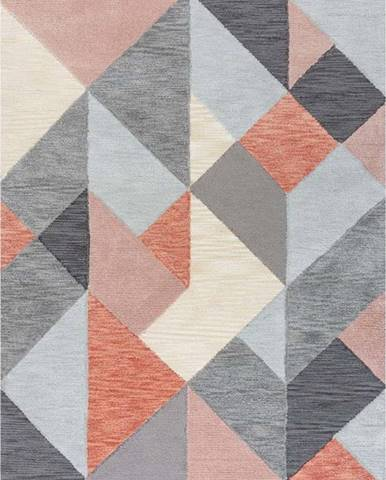 Šedo-růžový koberec Flair Rugs Icon, 160 x 230 cm