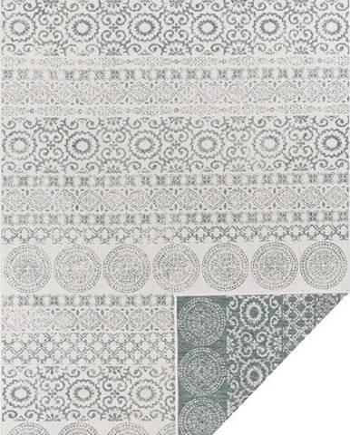 Zeleno-bílý venkovní koberec Ragami Circle, 200 x 290 cm