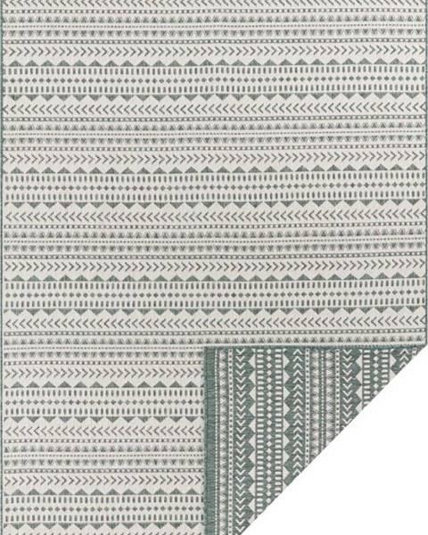 Ragami Zeleno-bílý venkovní koberec Ragami Kahira, 80 x 150 cm