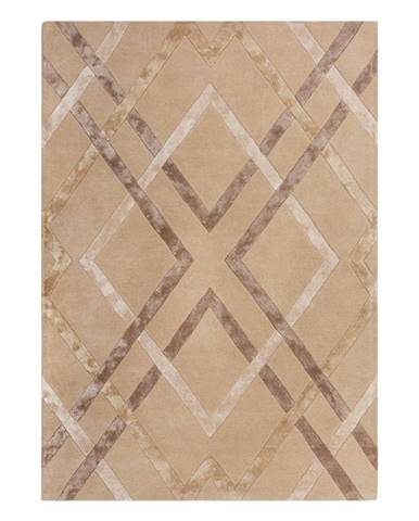 Béžový viskózový koberec Flair Rugs Trellis, 160 x 230 cm