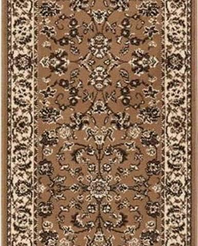 Koberec Basic Vintage, 80x500 cm, světle hnědý