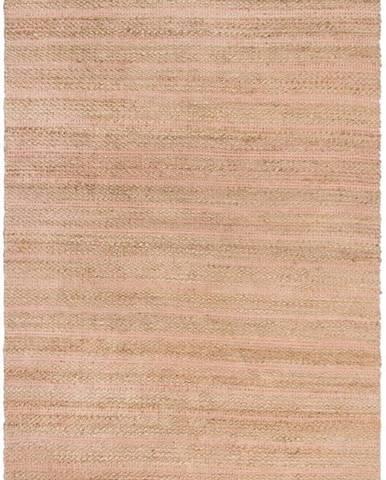 Růžový jutový koberec Flair Rugs Equinox, 120 x 170 cm