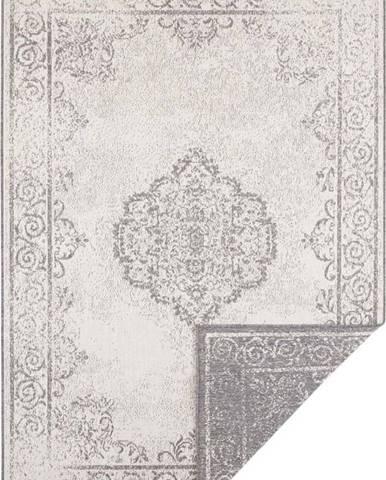 Šedo-krémový venkovní koberec Bougari Cebu, 120 x 170 cm