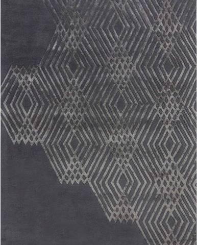 Tmavě šedý vlněný koberec Flair Rugs Diamonds, 120 x 170 cm